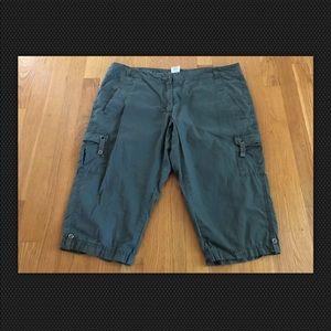 Dalia Collection Petite Green Shorts 14P